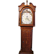 Antique Georgian Oak Tall Case Clock Circa 1820