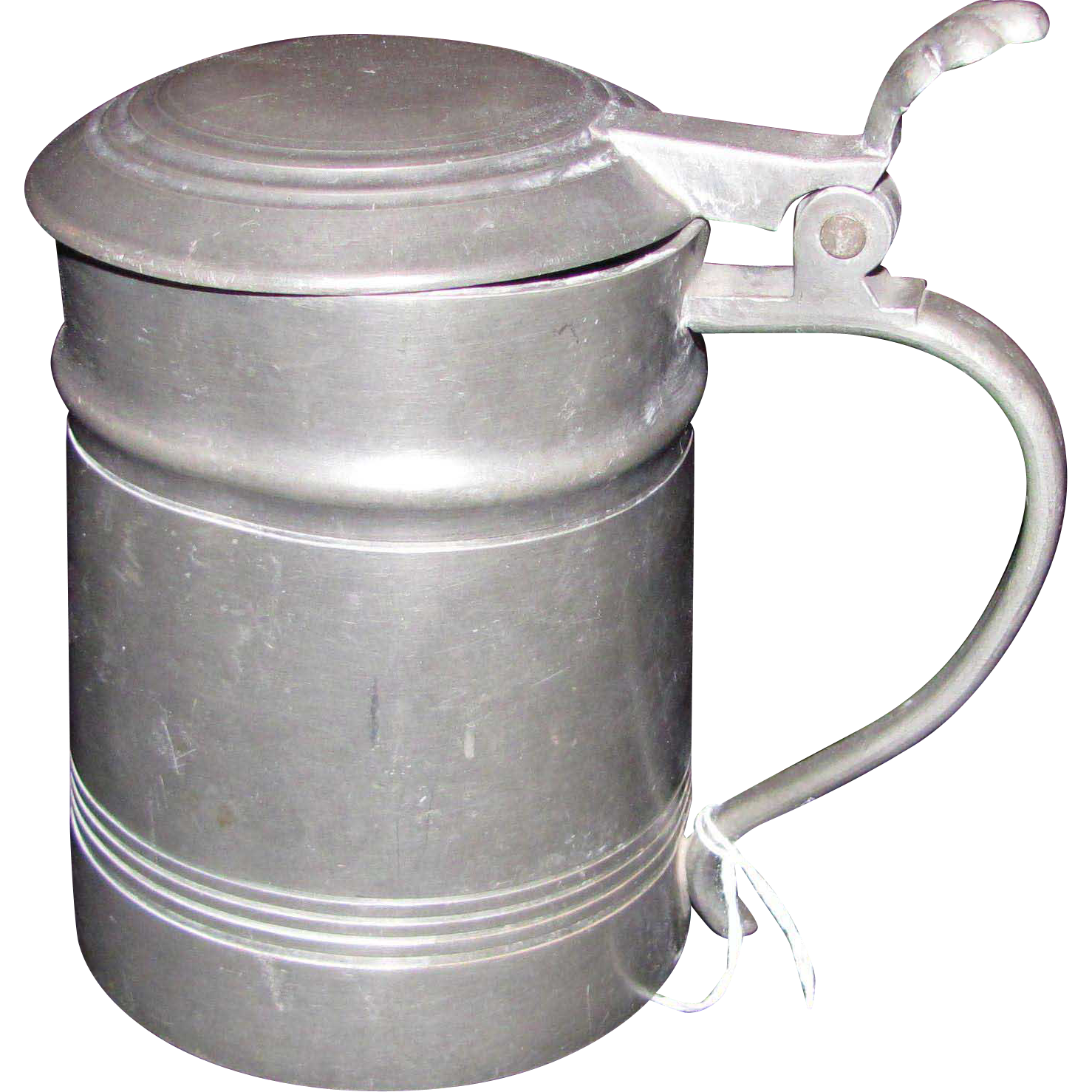 Antique Pewter Tankard 19th Century