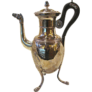 Antique Silverplate Coffee Pot Circa 1870