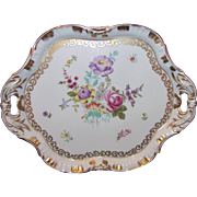 Antique Hand Painted Porcelain Tray Circa 1900