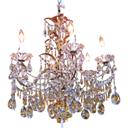 Antique Italian Crystal Chandelier Circa 1920