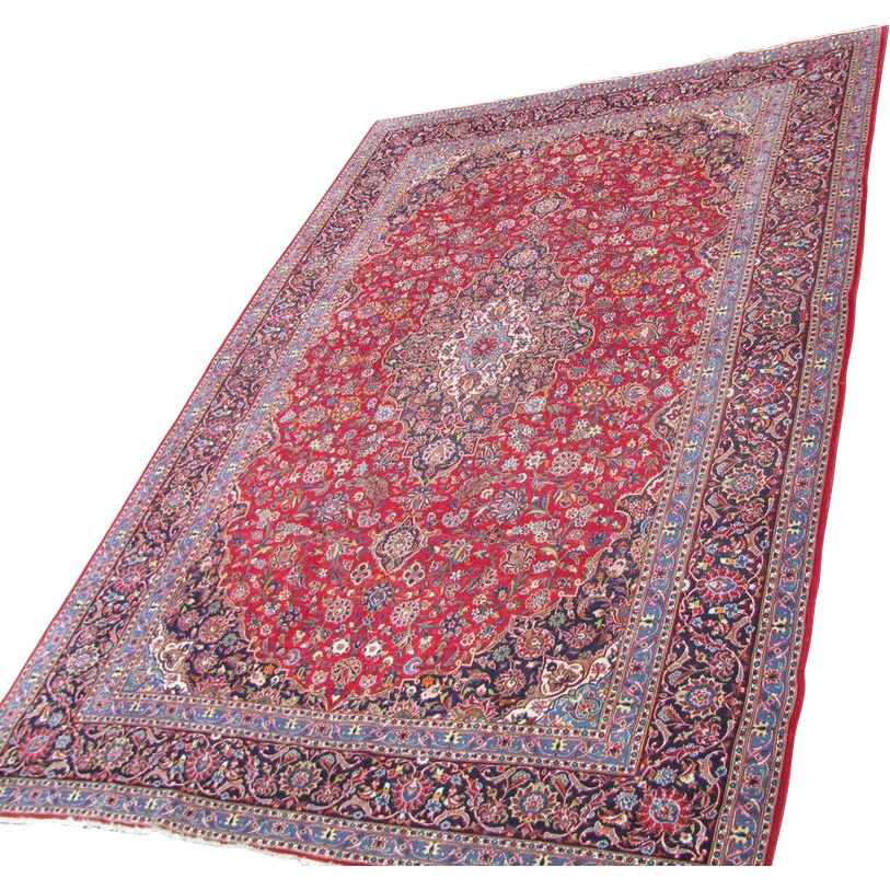 Vintage Large Room Size Persian Carpet 11.4 by 16.6