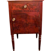 Antique American Federal Mahogany Night Stand Circa 1815