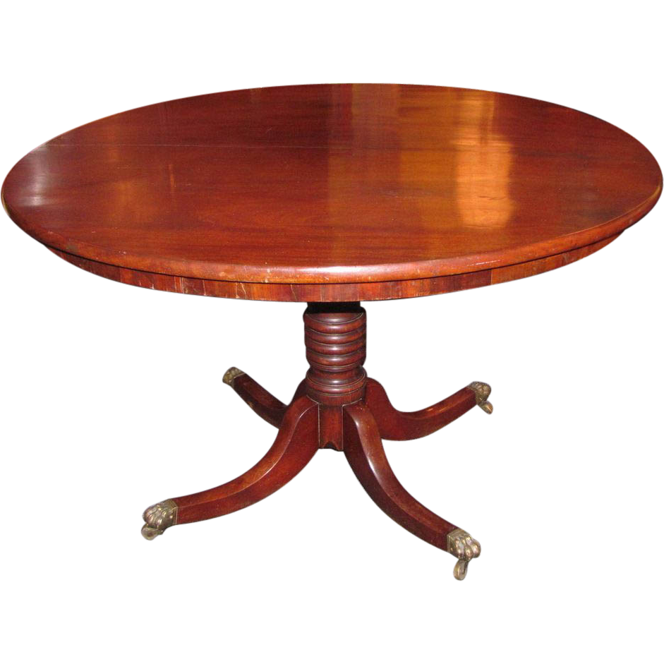 Antique English Regency Mahogany Tilt Top Breakfast Table Circa 1825