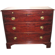 Antique English Georgian Mahogany Bachelors Chest of Drawers Circa 1800