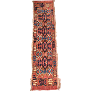 "Very Old Turkoman Rug 53"" by 12"" Runner"