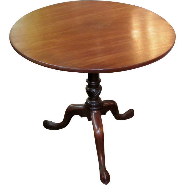 Antique American Mahogany Queen Anne Tilt Top Tea Table Circa 1770