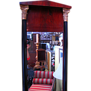 Antique Mahogany Biedermeier Pier Mirror Circa 1825