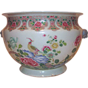Antique Chinese Famille Rose Jardiniere 19th Century