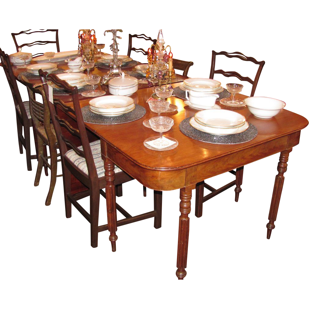 Antique American Federal Mahogany Dining Table New York Circa 1815