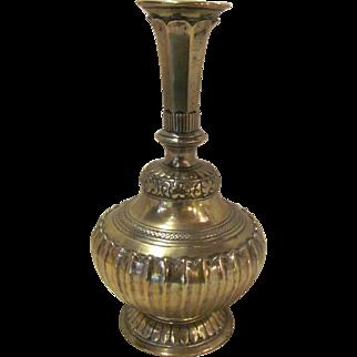 Antique Persian Brass Vase 18th Century