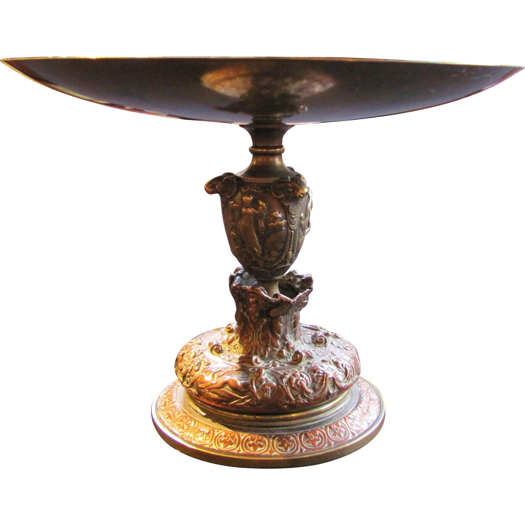 Antique Brass and Copper Tazza 19th Century