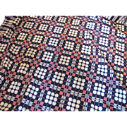 Antique American Homespun Coverlet Circa 1850
