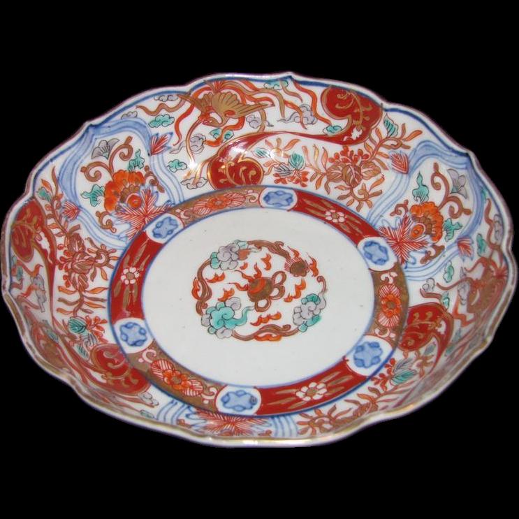 Set of 5 Antique Japanese Edo Period Imari Bowls Circa 1850