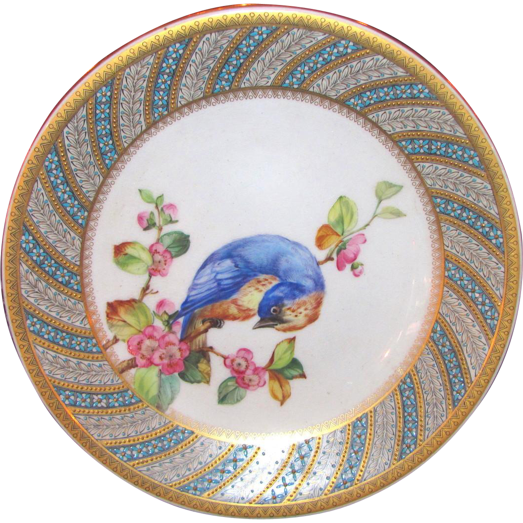 Antique Royal Worcester Porcelain Hand Painted Plate 1882