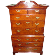Antique American Chippendale Cedar Chest on Chest Bermuda Circa 1780