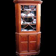 American Walnut Corner Cabinet Circa 1850