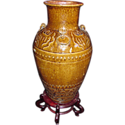Antique Chinese Canton Storage Jar 18th Century