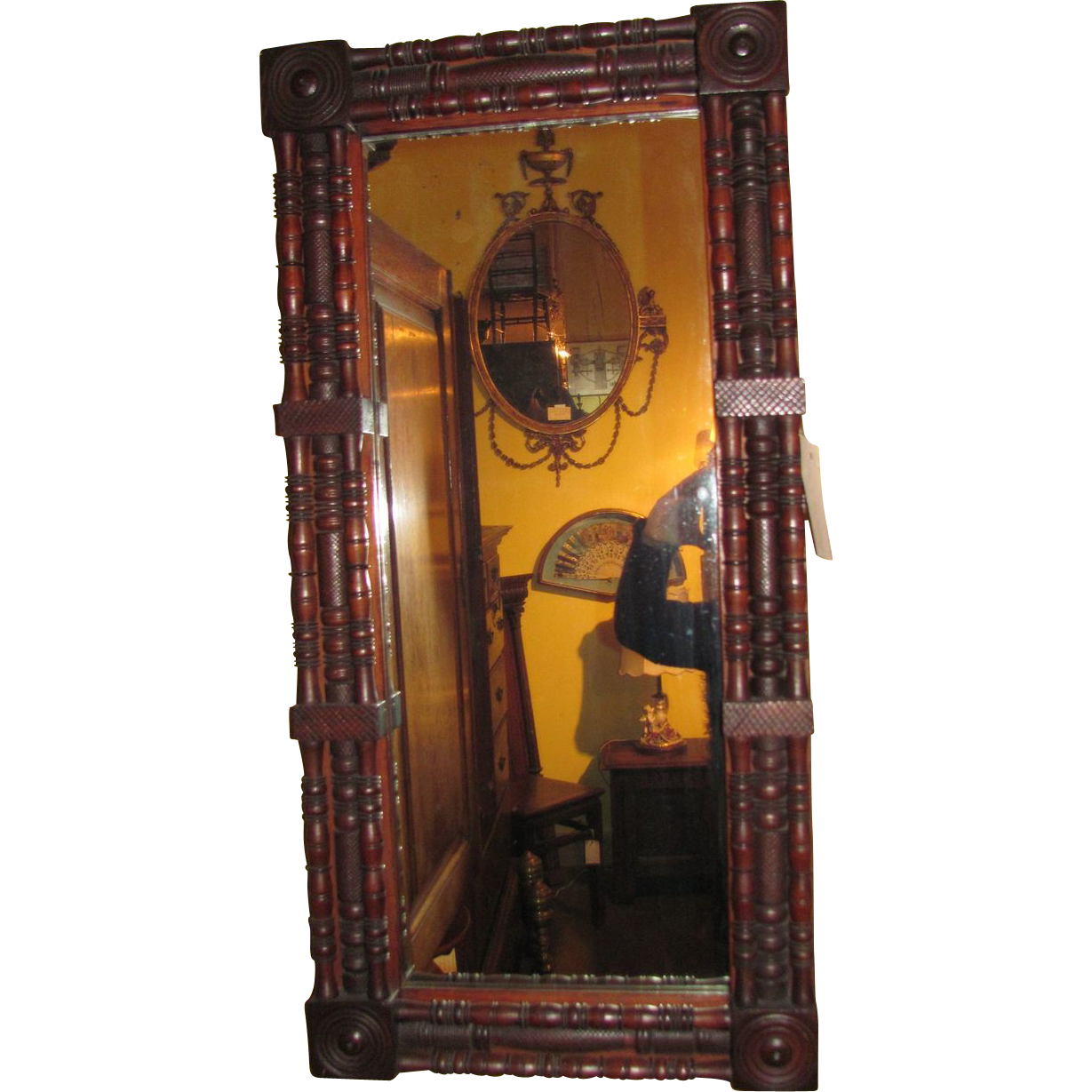 Antique American Mahogany Mirror Circa 1825