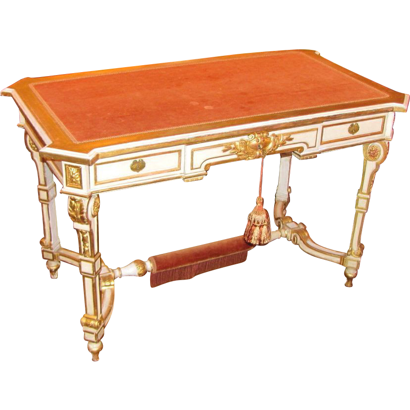 Antique French Louis XVI Style Painted Desk 19th Century