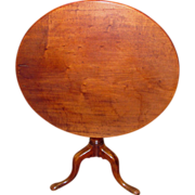 Antique English Georgian Mahogany Tilt Top Tea Table Circa 1785