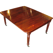 Antique English Sheraton Mahogany Dining Table Circa 1835