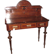 Antique French Louis Phillipe Rosewood Desk Circa 1860