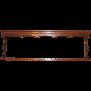 Antique English Georgian Oak Plate Rack Circa 1780