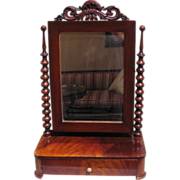 Antique Continental Mahogany Dressing Mirror Circa 1830