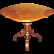 Antique French Louis Phillipe Walnut Center Table Circa 1850
