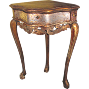 Antique Italian Painted Corner Table Circa 1750