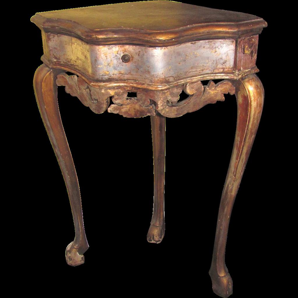 Antique Italian Painted Corner Table Circa 1750 : Flanagan & Lane Antiques  LLC | Ruby Lane - Antique Italian Painted Corner Table Circa 1750 : Flanagan & Lane