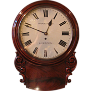 Antique Thomas Blundell Mahogany Clock Circa 1860