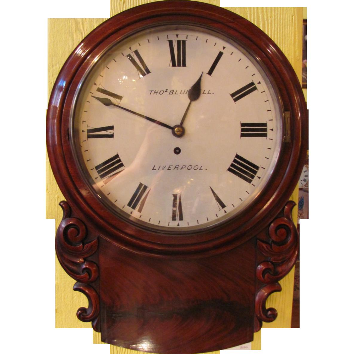 Antique Thomas Blundell Mahogany Clock Circa 1860