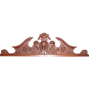 Antique German Carved Oak Pediment Circa 1880