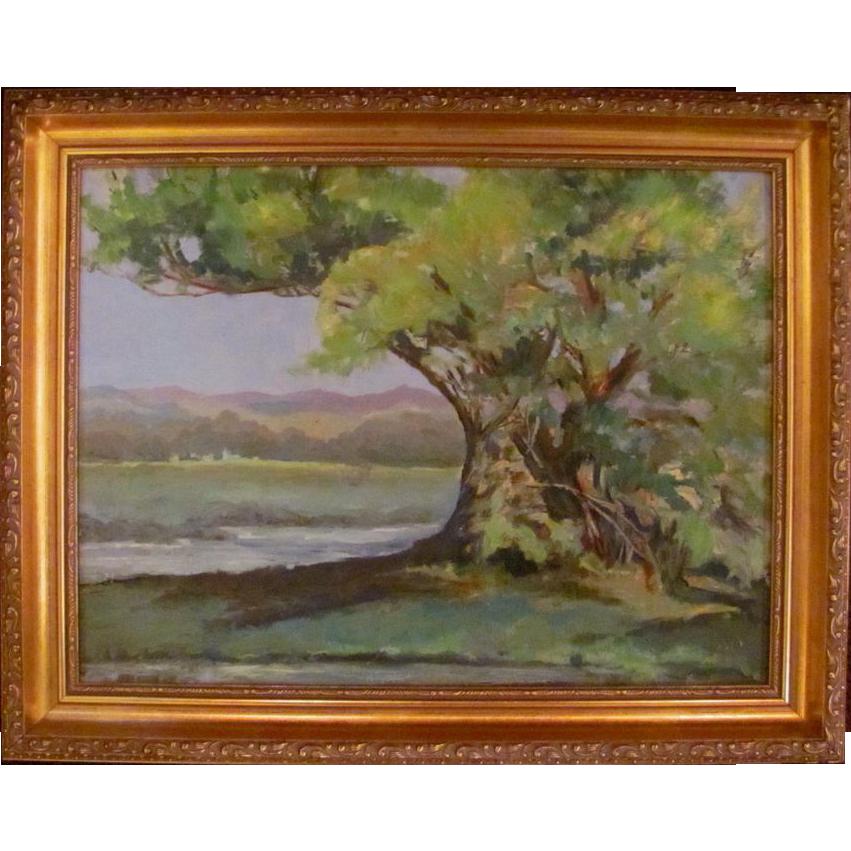 Post Impressionistic Oil on Board Signed Circa 1950