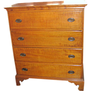 American Federal Tiger Maple Chest Circa 1790