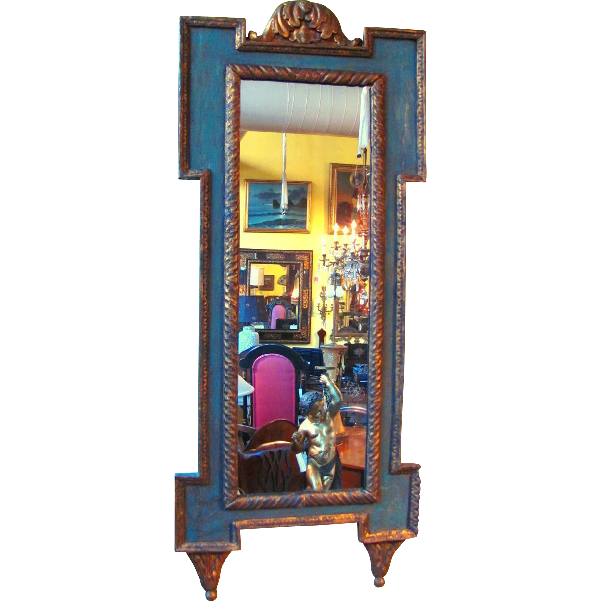 Antique Italian Painted Mirror Circa 1810