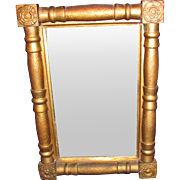 Antique American Empire Gilt Mirror Circa 1830
