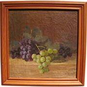 Antique Oil on Canvas Still Life Clara M. Dole Circa 1900