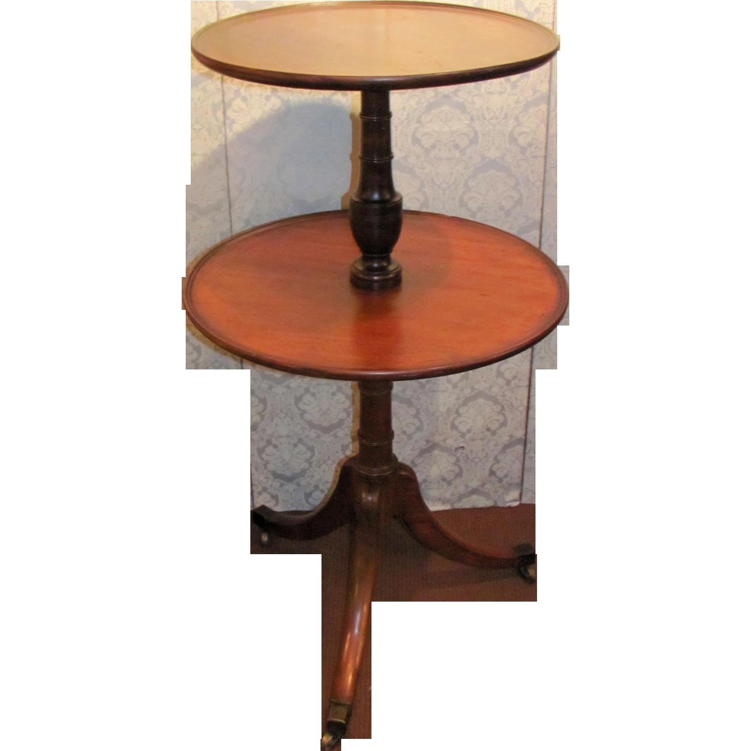 Antique English Georgian Mahogany Dumbwaiter Circa 1820