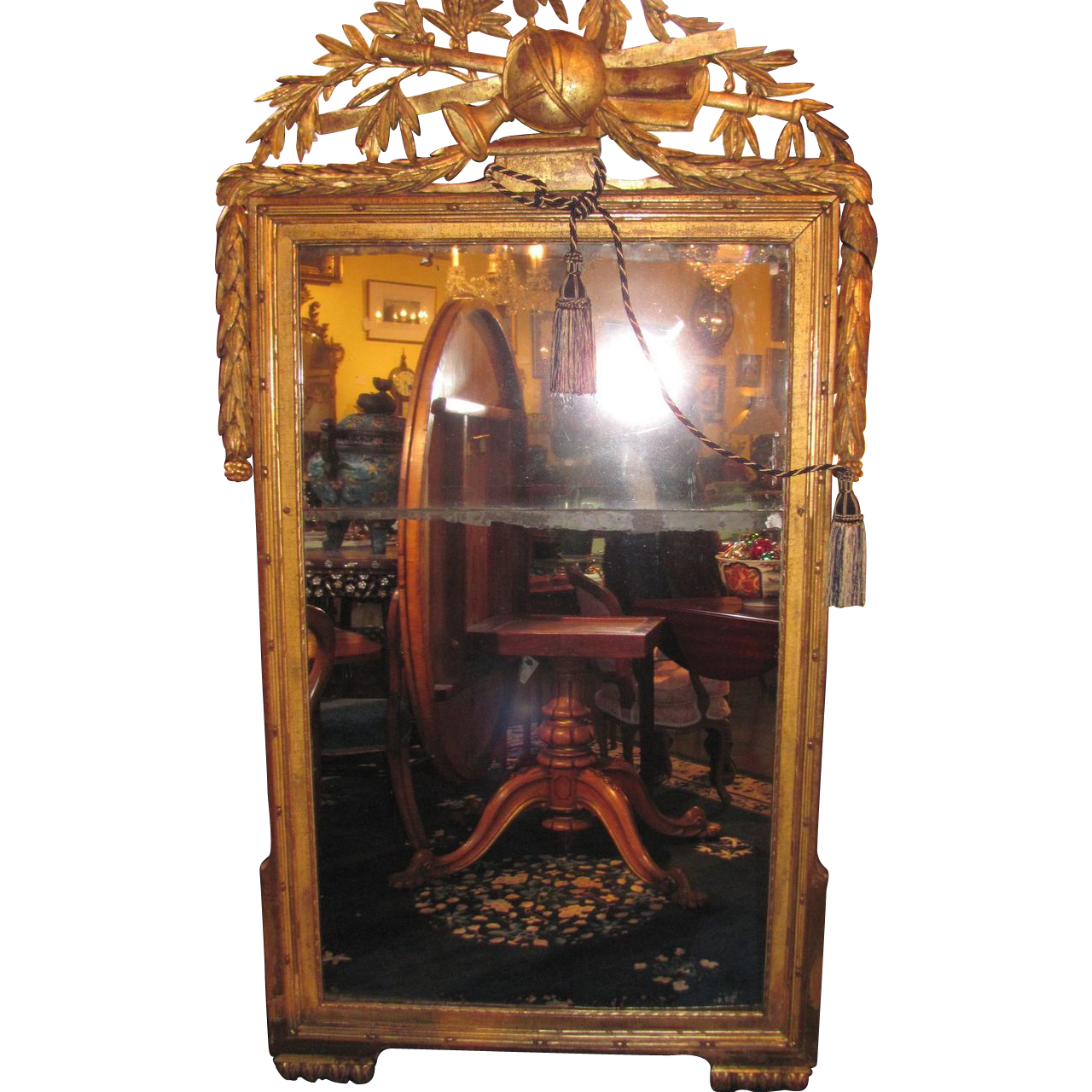 Large Antique French Gilt Mirror Circa 1800