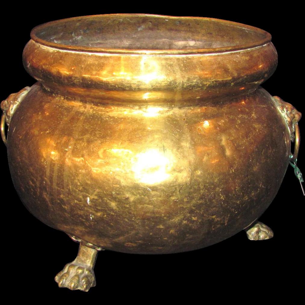 Antique Russian Brass Wine Cooler Circa 1820