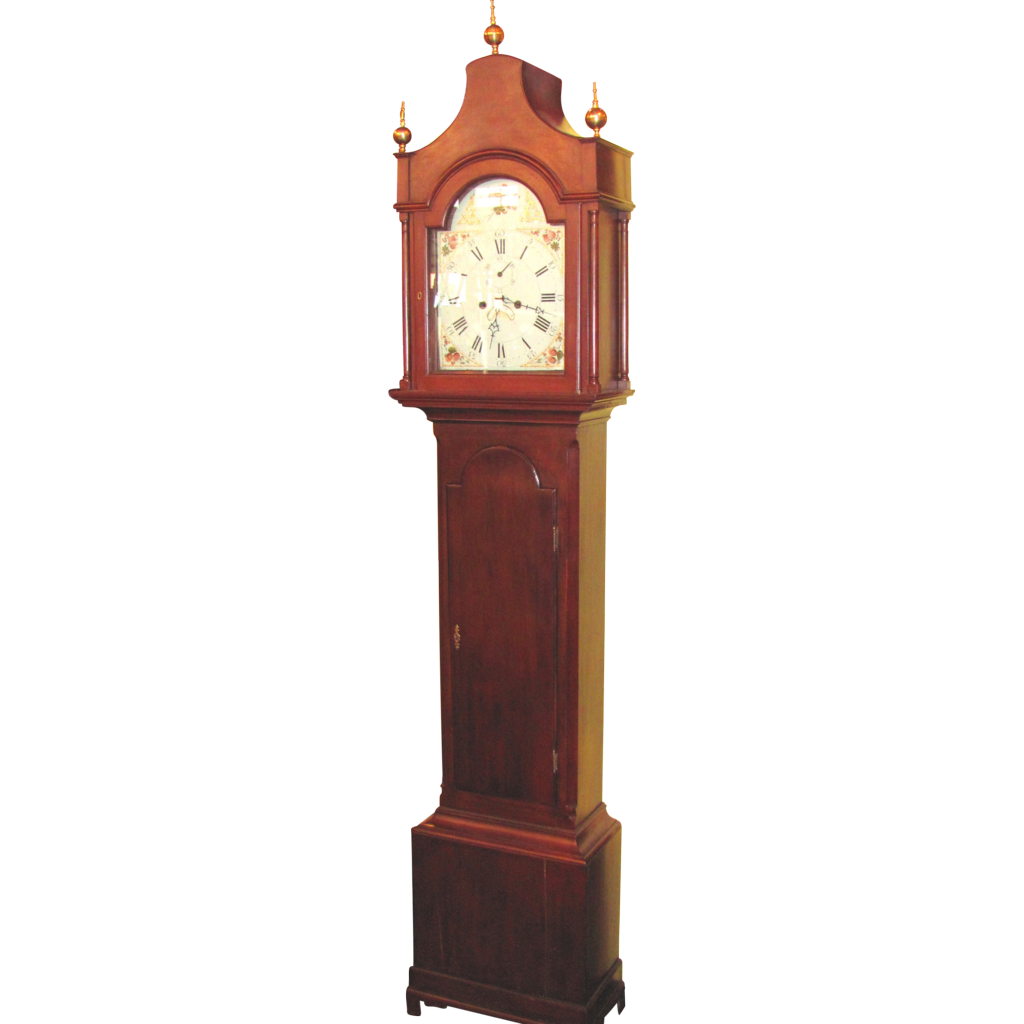 Antique American Federal Pagoda Top Tall Case Clock Circa 1790