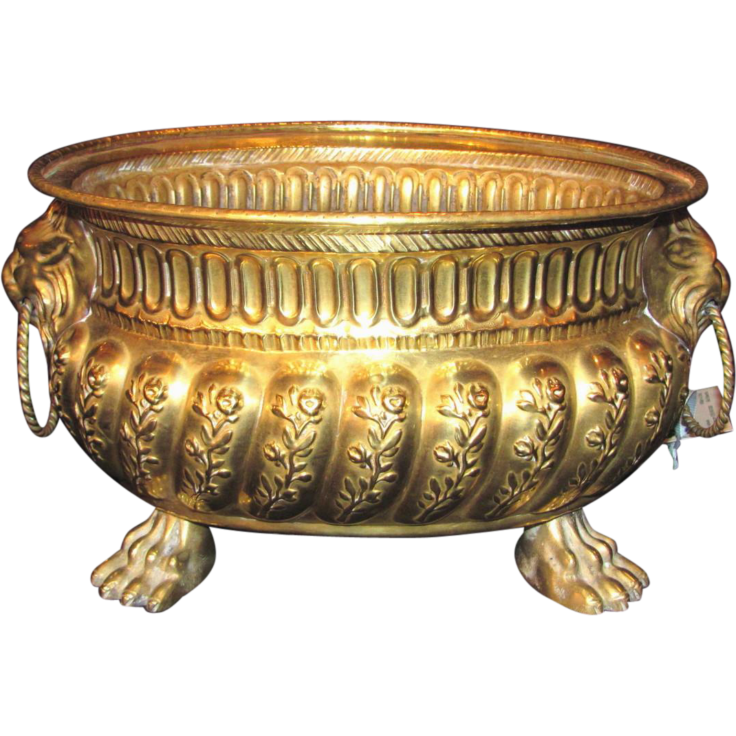 Antique Dutch Brass Wine Cooler Circa 1800
