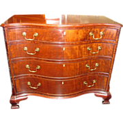 Antique English Mahogany Chippendale Style Chest of Drawers 19th Century