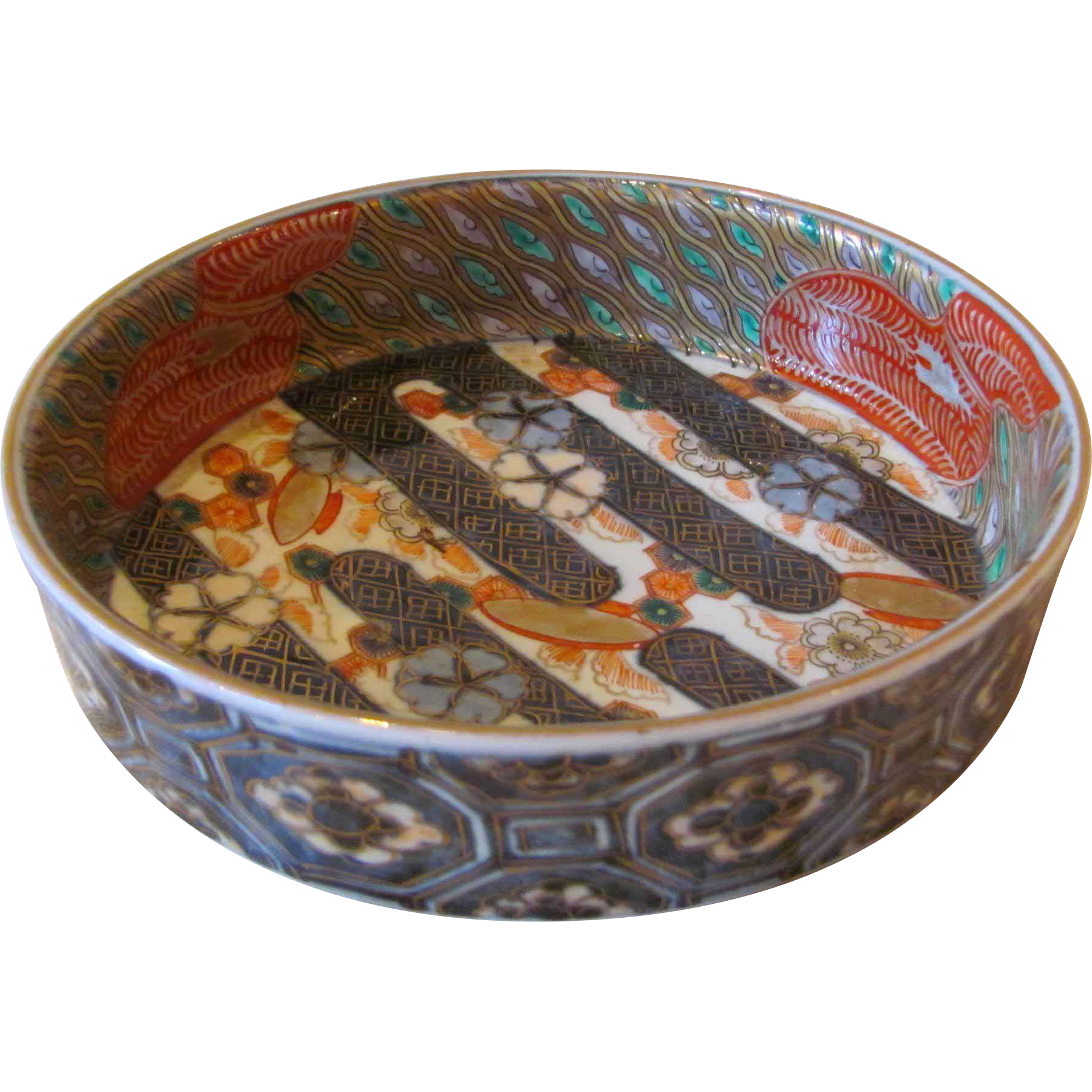Antique Japanese Kutani Dish Meiji Period Circa 1900
