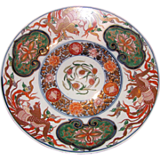 Antique Japanese Meiji Period Imari Charger Circa 1870