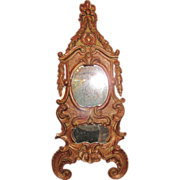 Antique Italian Baroque Painted Wall Mirror Circa 1750