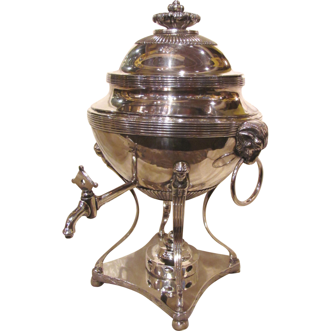 Antique English Georgian Silverplate Hot Water Urn Circa 1810